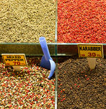 Pepper and Spices at the Great Bazaar Stock Images