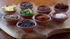 pepper Spices Paprika Juniper Royalty Free Stock Photography