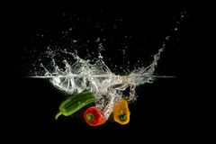 Pepper splash Royalty Free Stock Photos