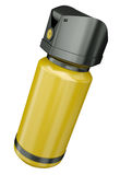 Pepper spray. Yellow pepper spray / tear gas container isolated on a white background. 3D render Stock Photo