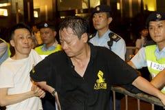 Pepper spray attack Raymond Wong Royalty Free Stock Photos