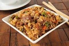 Pepper steak fried rice Stock Images