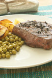 Pepper steak with roasted potato Stock Photography