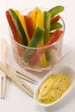 Pepper sticks salad. Stock Photo