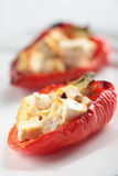 Pepper stuffed with feta cheese Royalty Free Stock Photo
