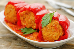 Pepper stuffed with meat and rice Royalty Free Stock Image