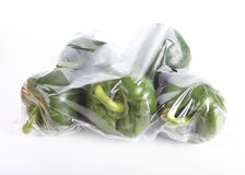 Pepper sweet bell in a plastic bag Stock Photo