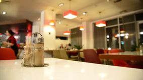 Pepper on a table in  cafe stock video footage