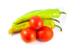 Pepper and tomato Stock Image