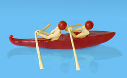 Pepper and tomato boat Royalty Free Stock Photography