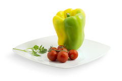 Pepper and tomato Stock Photos
