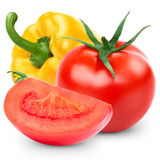 Pepper and tomato Stock Photography