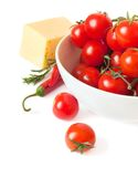 Pepper, tomatoes and cheese Stock Photography