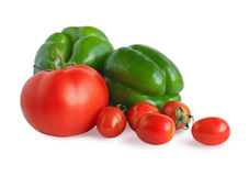 Pepper and tomatoes Royalty Free Stock Photo