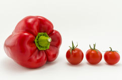 Pepper and tomatoes Royalty Free Stock Photos
