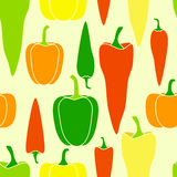Pepper vegetable seamless pattern Stock Photography