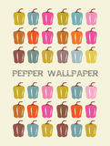 Pepper wallpaper. Collection of Colorful Decorative Peppers Royalty Free Stock Image
