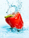 Pepper and water Royalty Free Stock Photography