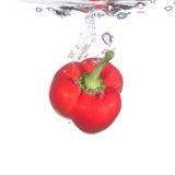 Pepper in water Royalty Free Stock Image