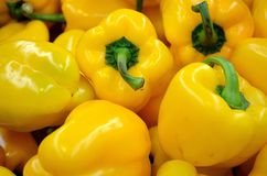 Pepper, Yellow, Food, Vegetables Stock Photo