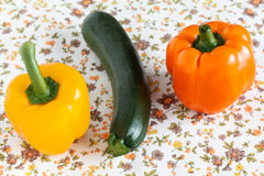 Pepper and Zucchini Stock Photos