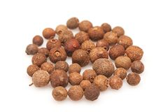Peppercorn on white background Stock Images