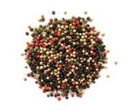 Peppercorns. Mixture of various dried peppercorns Stock Photo