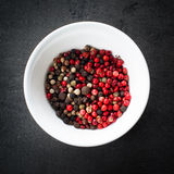 Peppercorns mixed in bawl Stock Photography