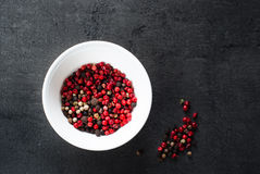 Peppercorns mixed in bawl Royalty Free Stock Photography