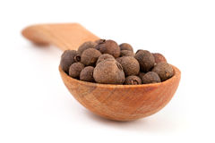 Peppercorns On Wooden Spoon Royalty Free Stock Image