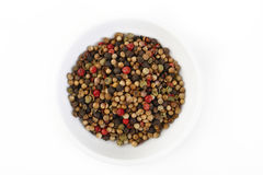 Peppercorns on white Royalty Free Stock Images