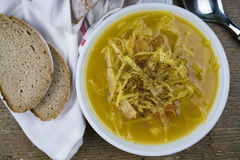 Peppered cabbage soup Royalty Free Stock Photo