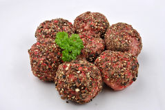 Peppered minced meat balls Stock Photos
