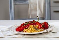 Pepperes vermelhos Roasted Imagens de Stock