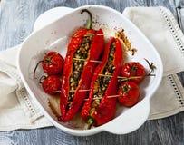 Pepperes vermelhos Roasted Imagem de Stock