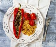 Pepperes vermelhos Roasted Fotos de Stock