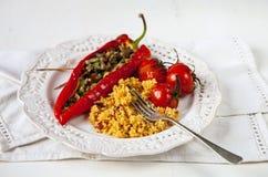 Pepperes vermelhos Roasted Fotos de Stock Royalty Free