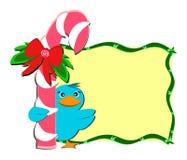 peppermint Χριστουγέννων πουλιών &rh Στοκ εικόνες με δικαίωμα ελεύθερης χρήσης