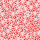 Peppermint candies. Red and white round peppermint candies background vector illustration