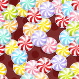 Peppermint candies seamless background. Royalty Free Stock Photos
