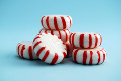 Peppermint Candy. Red and White Peppermint Candies stock photos