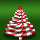 Peppermint Candy Christmas Tree Stock Image
