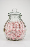 Peppermint Candy Jar on White Royalty Free Stock Photography