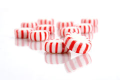 Peppermint Candy on a White Background Royalty Free Stock Photo