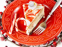 Peppermint Cheesecake Royalty Free Stock Photos