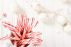 Peppermint chocolate cake pops Stock Photography