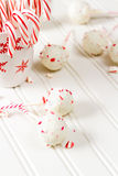 Peppermint chocolate cake pops Royalty Free Stock Image
