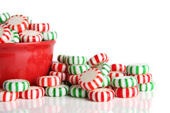 Peppermint Christmas candy Stock Photography