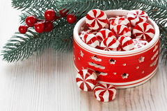 Peppermint Christmas candy Royalty Free Stock Images