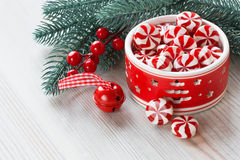 Peppermint Christmas candy Royalty Free Stock Photos